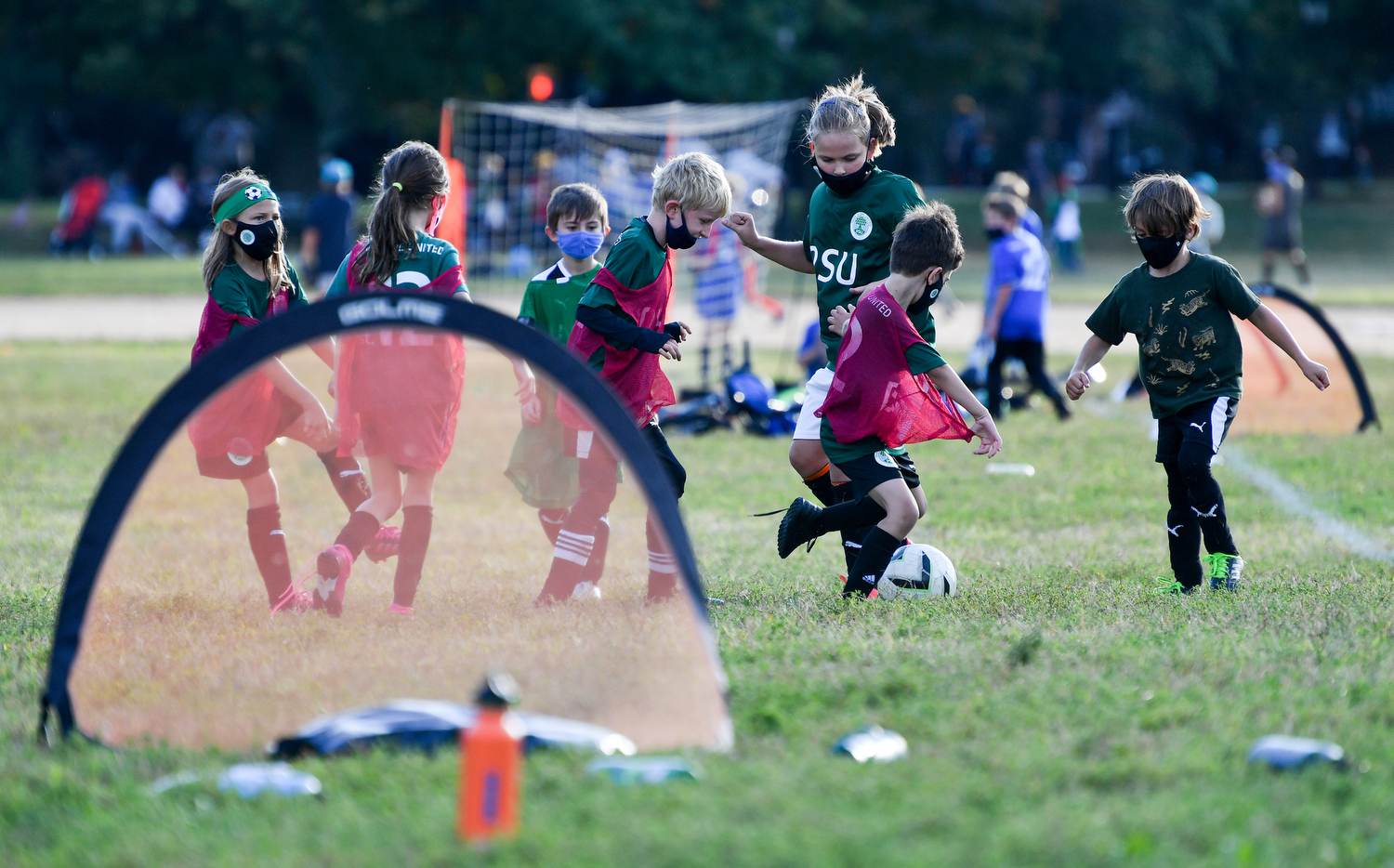 PSU (Park Slope United) soccer league at Long Meadow in Prospect Park Brooklyn NYC.